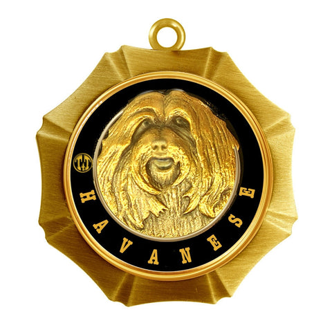 Havanese Dog Id Tag Antique Gold Finish - Tags4Tails
