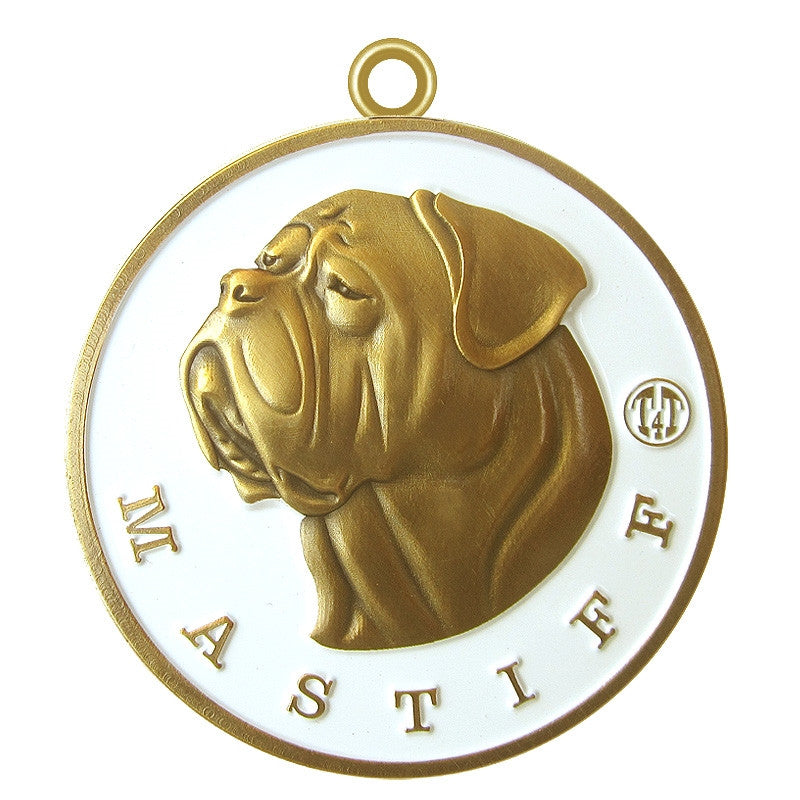 Mastiff Dog Id Tag Antique Gold Finish - Tags4Tails