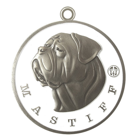 Mastiff Dog Id Tag Antique Silver Finish - Tags4Tails