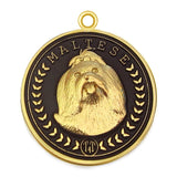 Maltese Dog Id Tag Gold Finish - Tags4Tails
