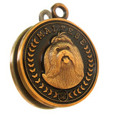 Maltese Dog Id Tag Antique Gold Finish - Tags4Tails