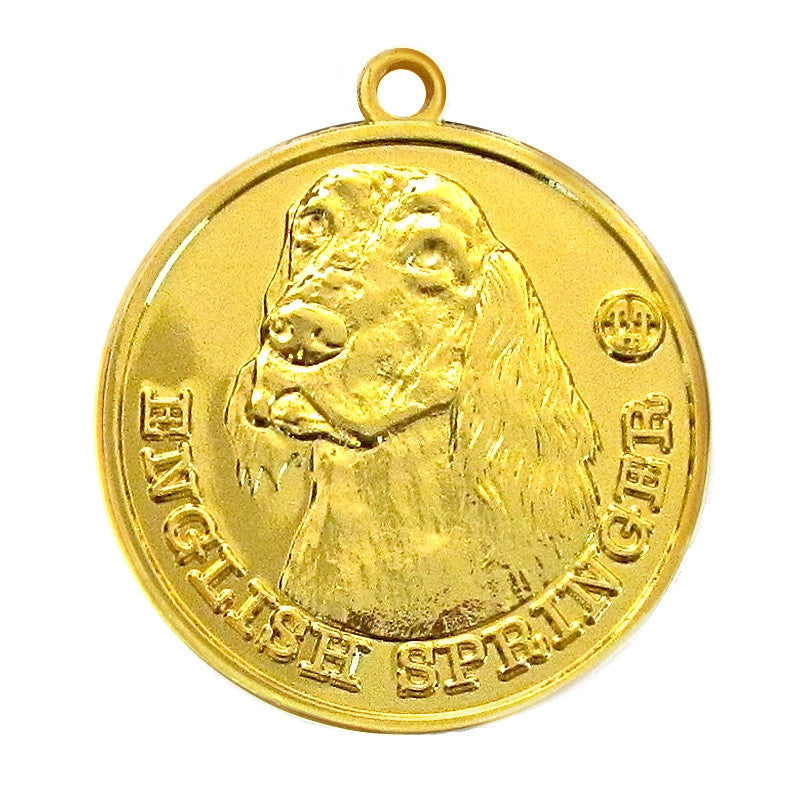 English Springer Dog Id Tag Gold Finish - Tags4Tails