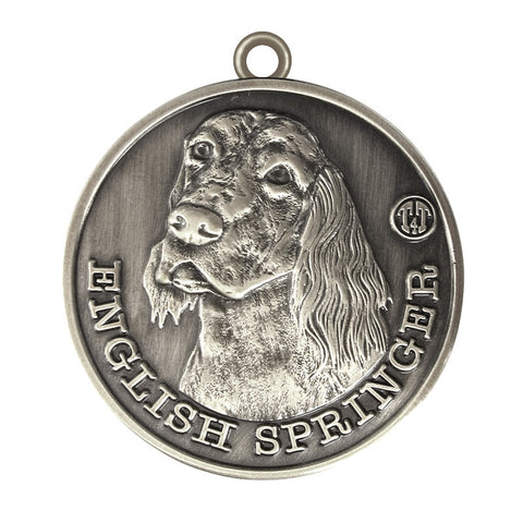 English Springer Dog Id Tag Antique Silver Finish - Tags4Tails