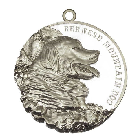 Bernese Mountain Dog Dog Id Tag Silver Finish - Tags4Tails