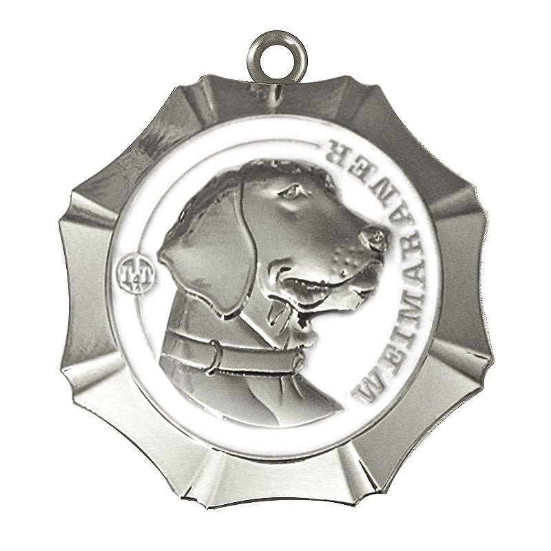 Weimaraner Dog Id Tag Silver Finish - Tags4Tails