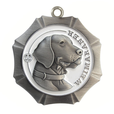 Weimaraner Dog Id Tag Antique Silver Finish - Tags4Tails