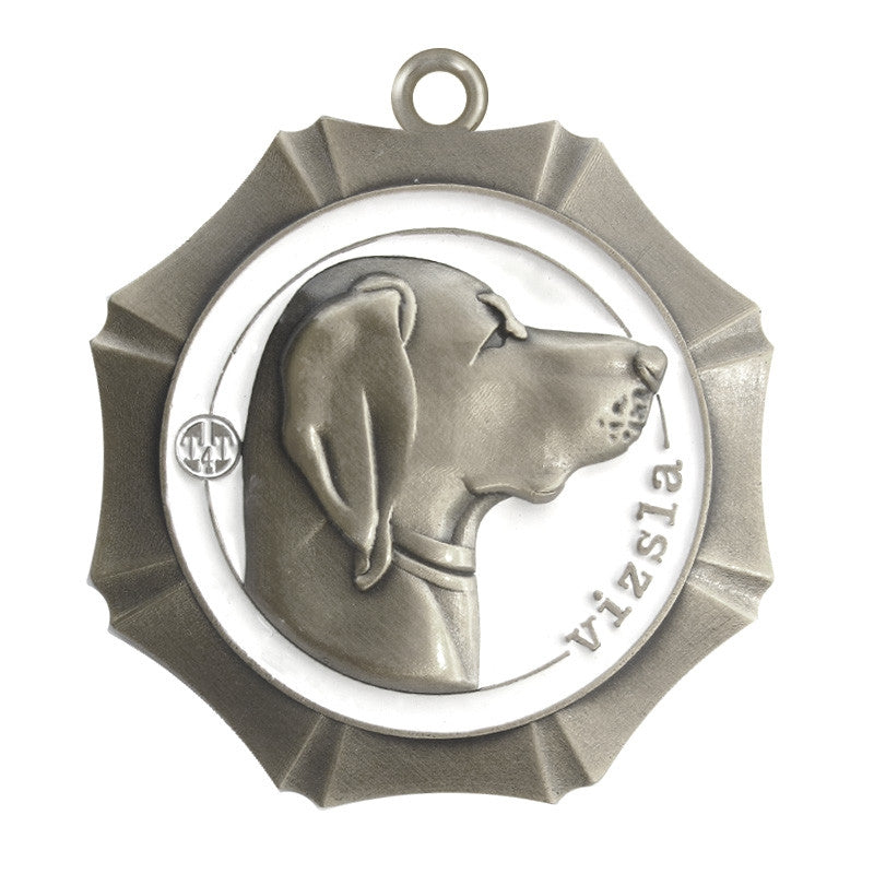 Vizsla Dog Id Tag Antique Silver Finish - Tags4Tails