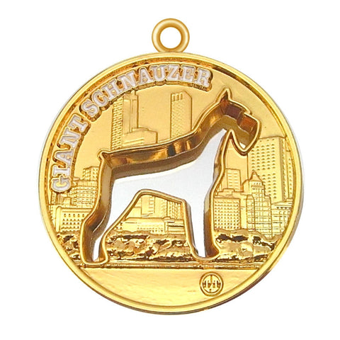 Giant Schnauzer Dog Id Tag Gold Finish - Tags4Tails