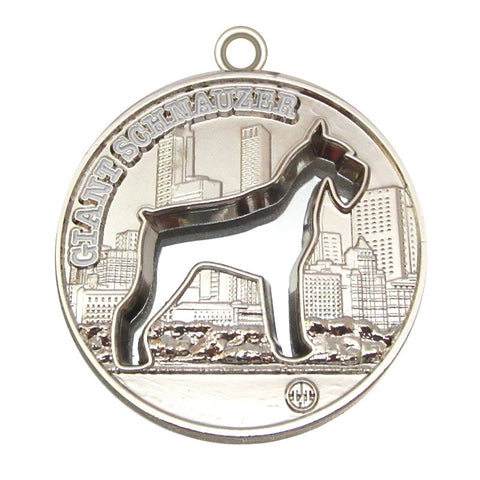 Giant Schnauzer Dog Id Tag Silver Finish - Tags4Tails