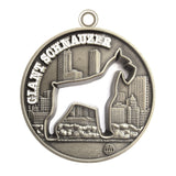 Giant Schnauzer Dog Id Tag Antique Silver Finish - Tags4Tails