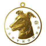 Greyhound Dog Id Tag Antique Gold Finish - Tags4Tails