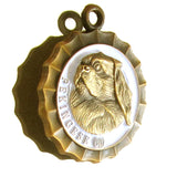 Pekingese Dog Id Tag Antique Gold Finish - Tags4Tails