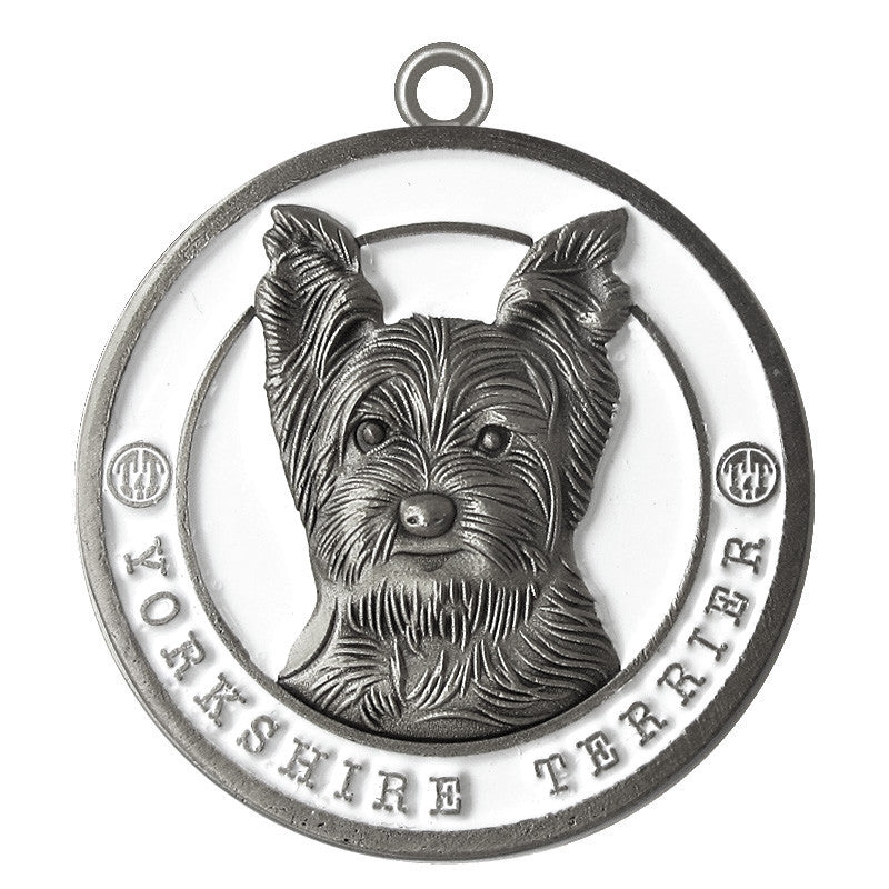 Yorkshire Terrier Dog Id Tag Antique Silver Finish - Tags4Tails