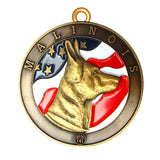 Malinois Dog Id Tag Antique Gold Finish - Tags4Tails