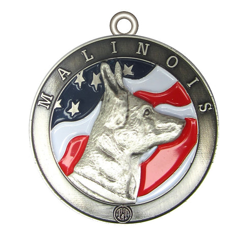 Malinois Dog Id Tag Antique Silver Finish - Tags4Tails