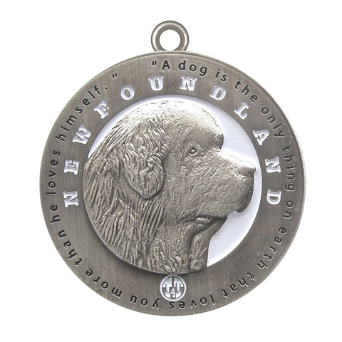 Newfoundland Dog Id Tag Antique Silver Finish - Tags4Tails