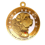 Saint Bernard Dog Id Tag Antique Gold Finish - Tags4Tails