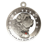 Saint Bernard Dog Id Tag Antique Silver Finish - Tags4Tails