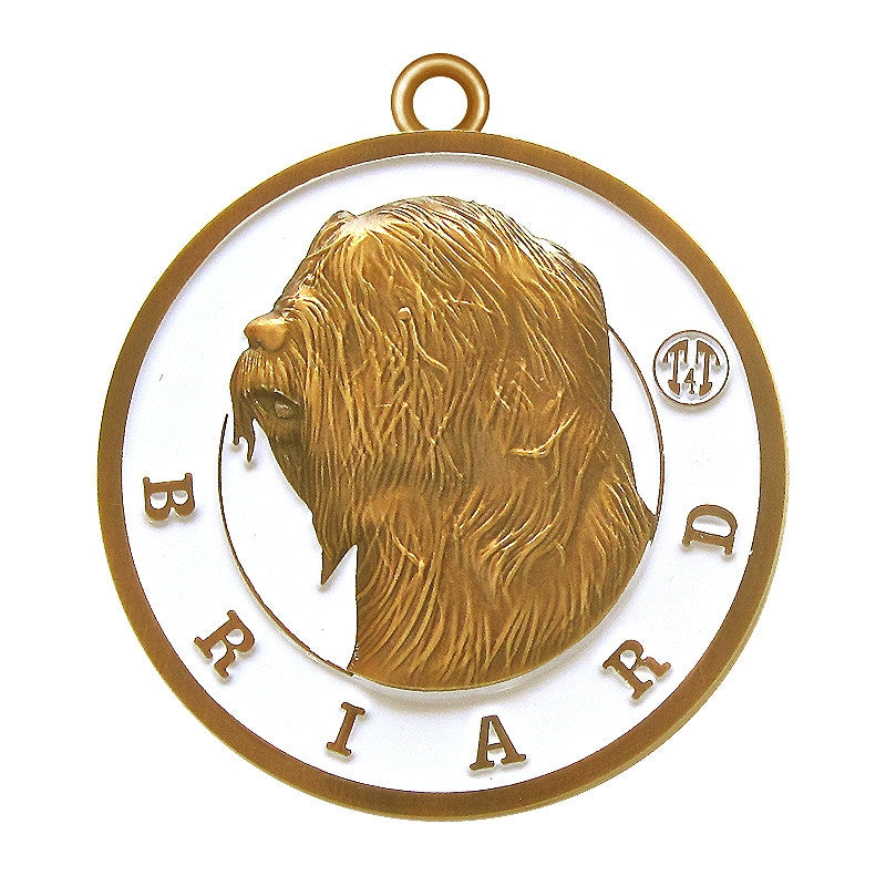 Briard Id Tag Antique Gold Finish - Tags4Tails