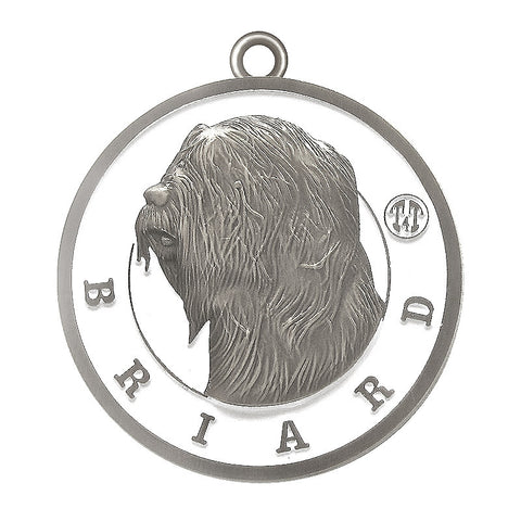 Briard Id Tag Antique Silver Finish - Tags4Tails
