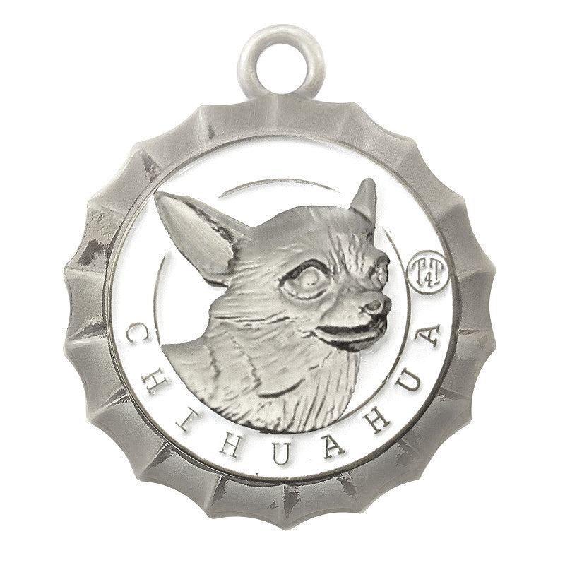 Chihuahua Id Tag Silver Finish - Tags4Tails