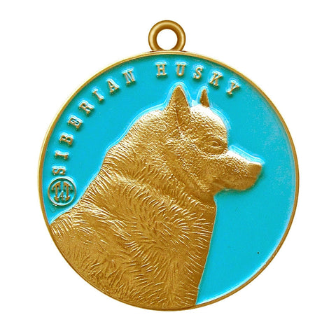 Siberian Husky Dog Id Tag Antique Gold Finish - Tags4Tails
