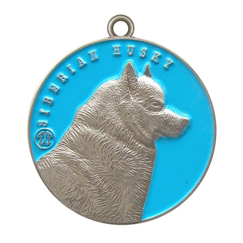 Siberian Husky Dog Id Tag Antique Silver Finish - Tags4Tails