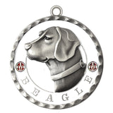 Beagle Dog Id Tag Antique Silver Finish - Tags4Tails