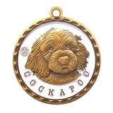 Cockapoo Id Tag Antique Gold Finish - Tags4Tails
