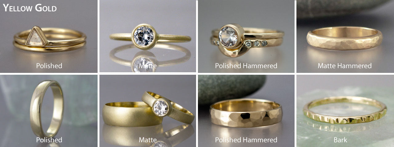yellow gold wedding and engagement rings