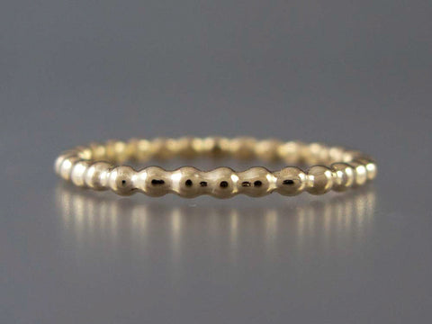 Yellow Gold Beaded Wedding Band