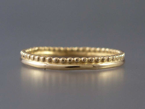 Yellow Gold Crown Wedding Band