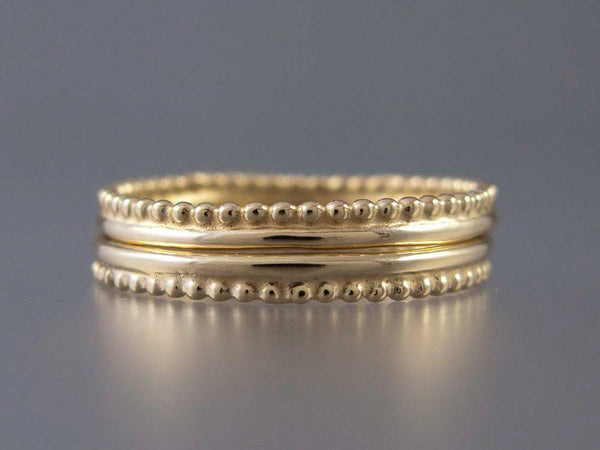 Gold Crown Wedding Band