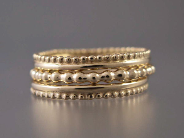 Gold Bubble Wedding Band