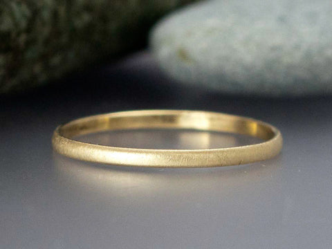 Narrow Half Round Wedding Band Custom Made in Gold, Palladium, or Platinum