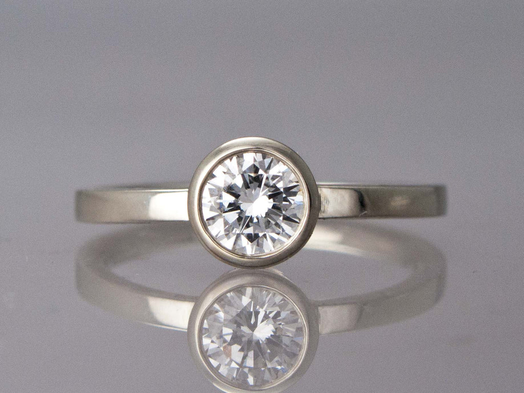 center bands solitare rings solitaire gold unique simple white prong round setting in diamond swirl diamonds stone ring jewelry engagement fascinating nl cut wg