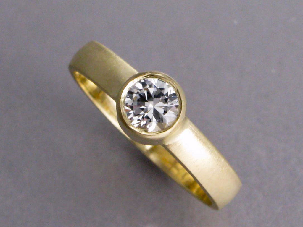 bezel ring in palladium and spliced or straight with solitaire gold white sapphire round hammered band platinum diamond a engagement products