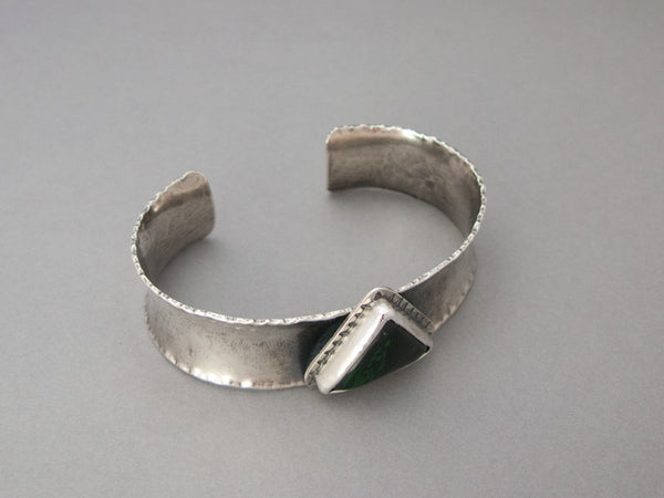 Maw Sit Sit Triangle and Sterling Silver Anticlastic Cuff Bracelet