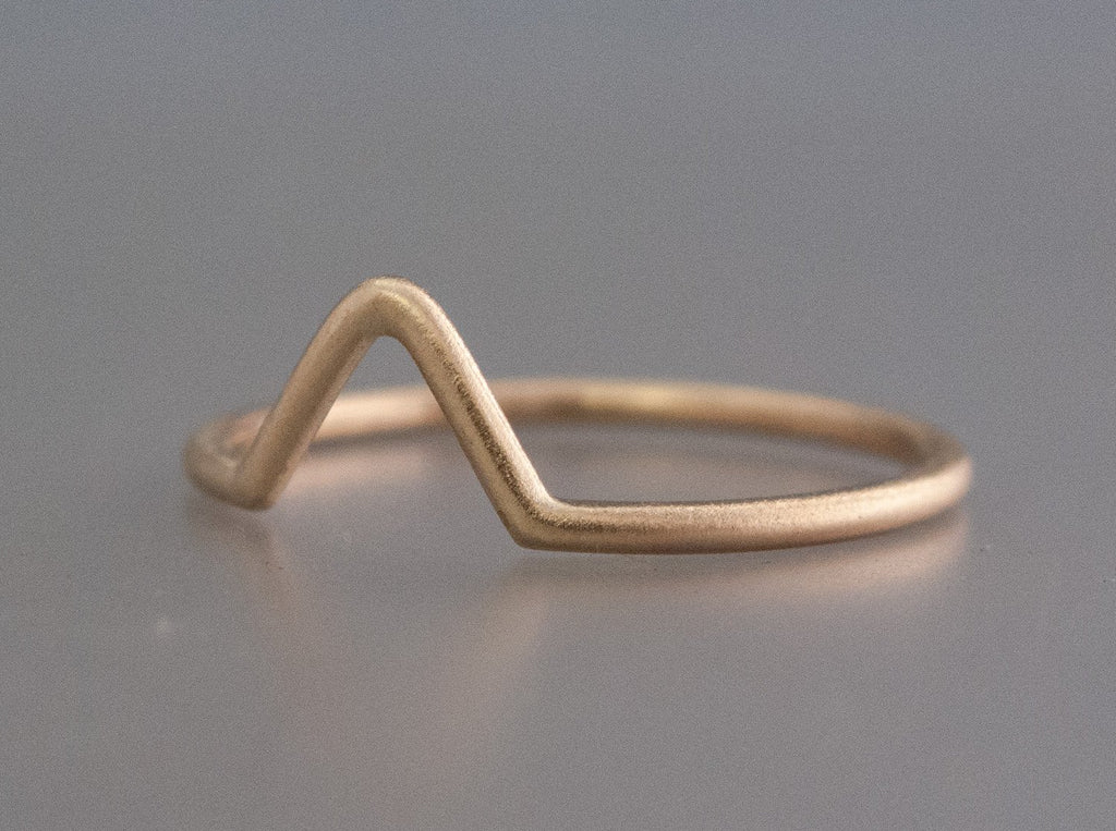 Fitted Wishbone Wedding Band Custom Made in Gold or Platinum