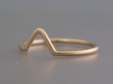 Fitted Wishbone Wedding Band Custom Made in Gold, Palladium, or Platinum