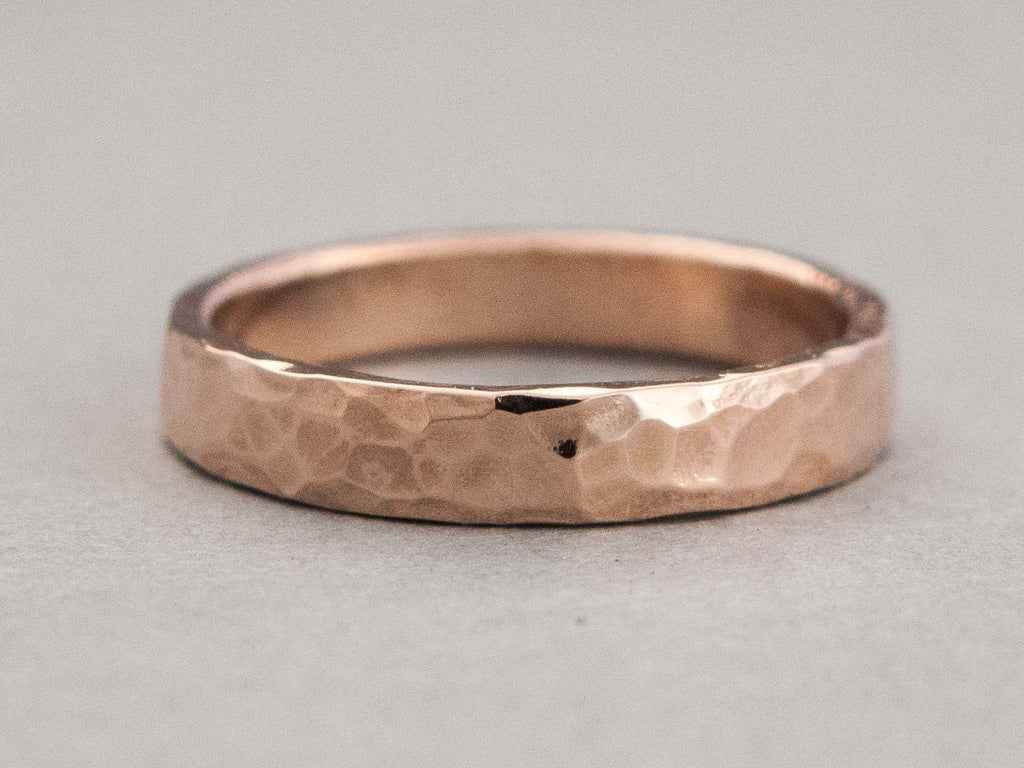 Wide Hammered Wedding Band by Shirlee Grund Jewelry
