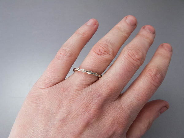 Twist Wedding Band Custom Made in Gold, Palladium, or Platinum