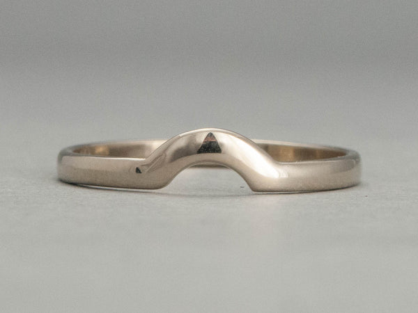 Women's Contour Wedding Band Custom Made in Gold, Palladium, or Platinum