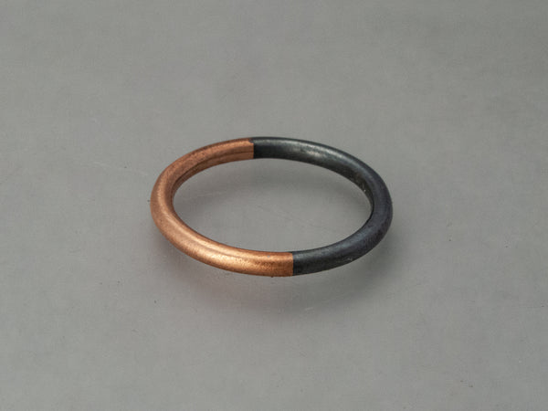 Mixed Metals Round Women's Wedding Ring | 50/50 Partnership Band in Silver and Gold
