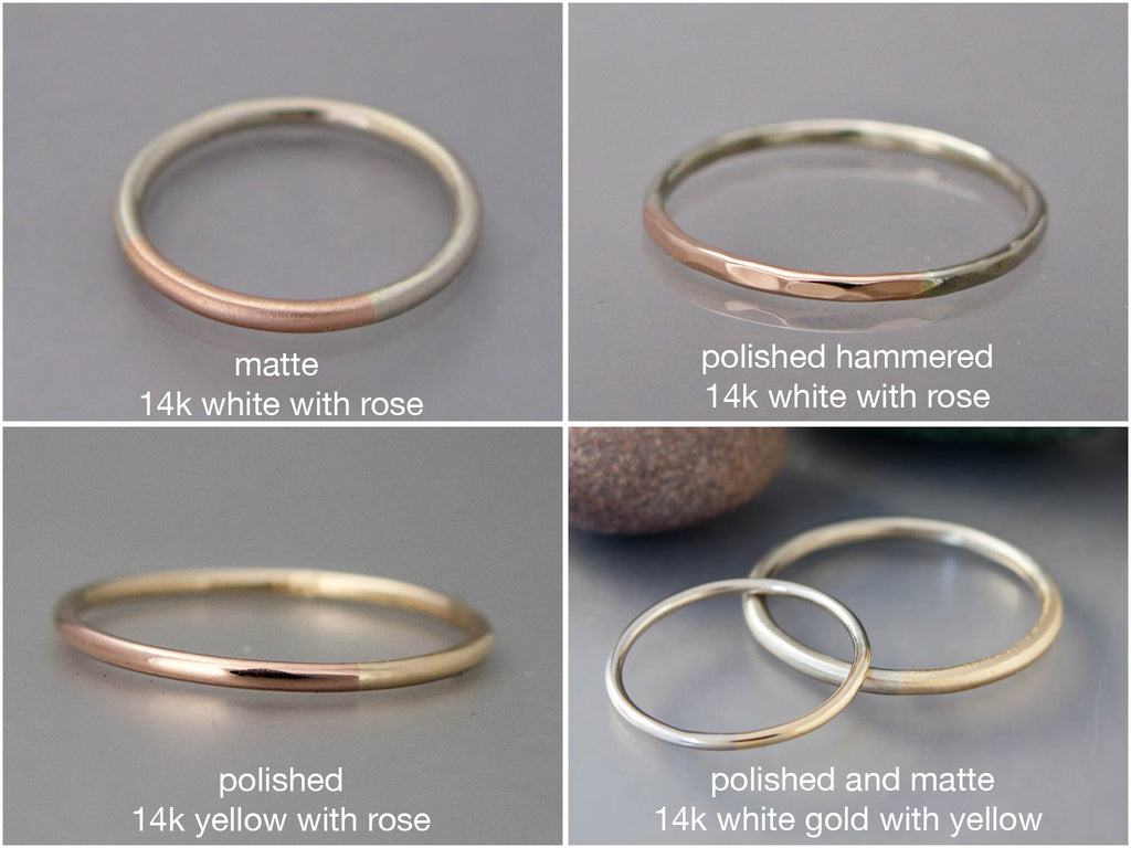 wedding step tone stepedge raised center p polished and tungsten carbide his with edge jewelry twotone ring gold hers couples matching band bands for set two
