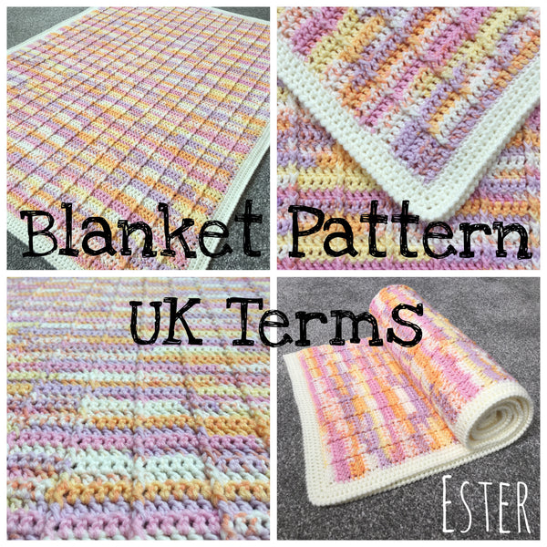 Ester - Crochet Baby Blanket Pattern - UK Terms