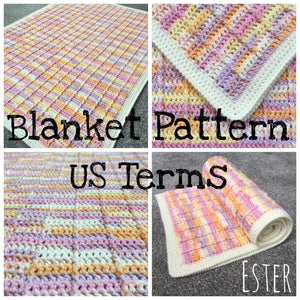 Load image into Gallery viewer, Ester - Crochet Baby Blanket Pattern - US Terms - Mrs Snufflebean