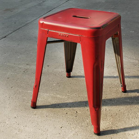 HOCKER H45 RAW PATINIERT ROT Hocker RW547 Design