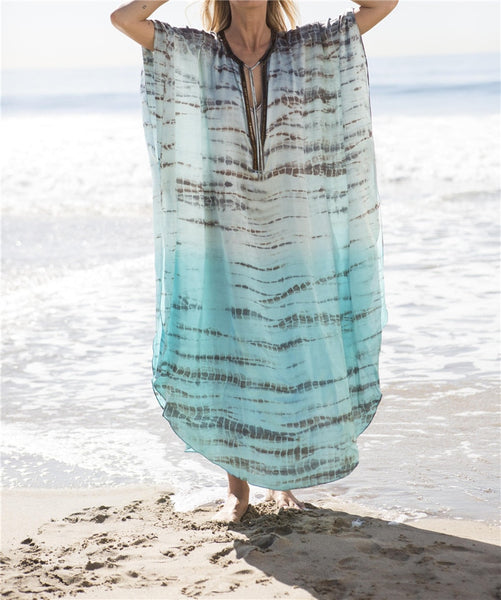Beach Cover Up - Pink Picot