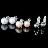 Clip Pearl Earring No Piercing White Blush Midnight